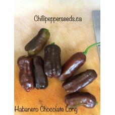 Habanero Chocolate Long Chilli Pepper Seeds